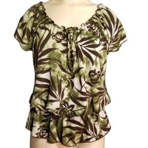 Claudia Richard jungle print blouse